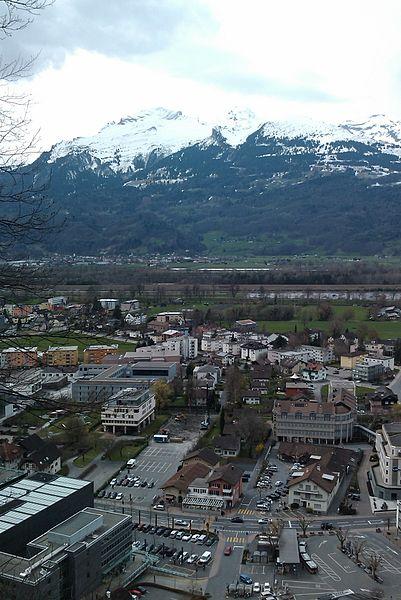 File:Vaduz from the hills above, with the Austrian Alps in the background, Vaduz, Liechtenstein.jpg
