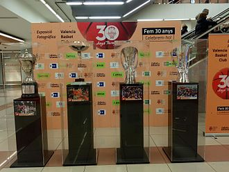 Valencia Basket - The Copa del Rey and the three EuroCups conquered by the club.