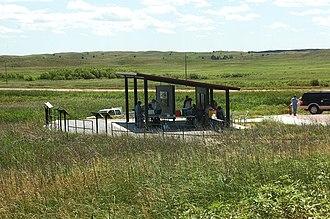 Valentine National Wildlife Refuge - Picnic area at Valentine National Wildlife Refuge, June 2010