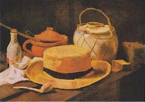 Still Life with Straw Hat - Image: Van Gogh Stillleben mit gelbem Strohhut