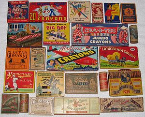 Crayon - A wide variety of crayon boxes have been produced over the years