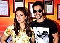 Varun Dhawan & Huma Qureshi promote 'Badlapur' .jpg