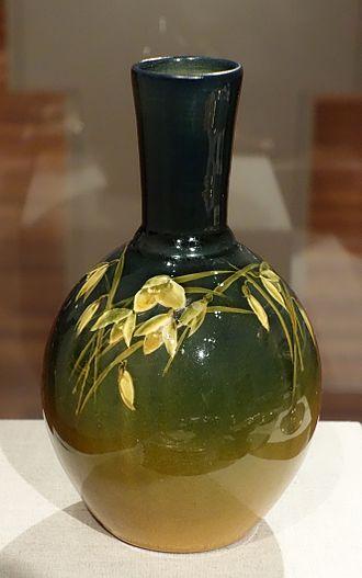 American art pottery - Glazed earthenware vase, Rookwood Pottery, ca. 1900