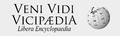 Veni Vidi Vicipaedia bumper sticker.png