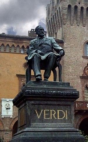 English: Luigi Secchi, Statue of Giuseppe Verd...