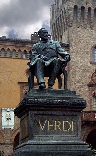 Luigi Secchi -  Statue of Giuseppe Verdi, (1913) in Busseto, Italy