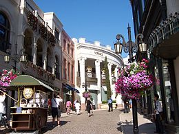 Beverly Hills op de hoeke fan Rodeo Drive, Dayton Way en Via Rodeo