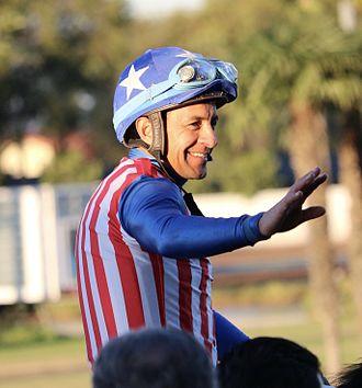 Victor Espinoza - Image: Victor Espinoza at Los Alamitos track 2016 25