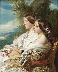 Victoria and her cousin, 1852.jpg