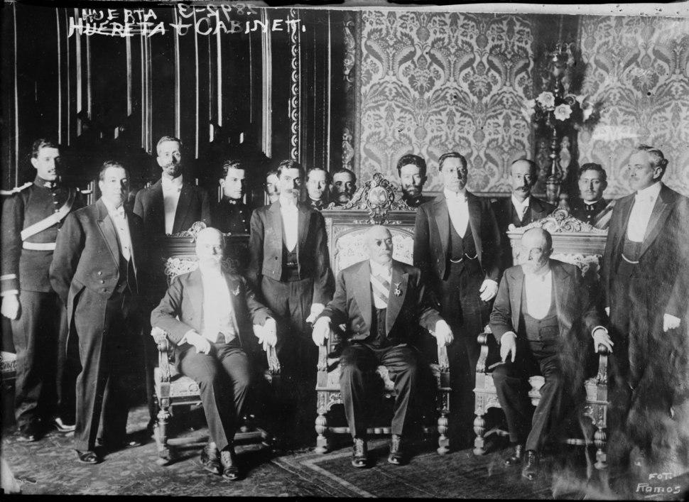 Victoriano Huerta y su gabinete