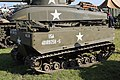 Victory Show Cosby UK 06-09-2015 WW2 re-enactment Military Vehicles restored originals replicas zaphad1 Flickr CCBY2.0 USA 40109258-S personell carrier (M4A1(75) Sherman USA3038210 HAVOC in back) IMG 3926.jpg