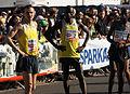 Vienna 2013-04-14 Vienna City Marathon - 11 Oleksandr Sitkovskyy, UKR, 2 Jafred Chirchir Kipchumba, KEN, 1 Henry Sugut, KEN preparing.jpg