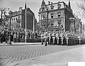 Viering van het 10 jarig bestaan van de NATO in Mainz met een militaire parade,, Bestanddeelnr 910-2730.jpg