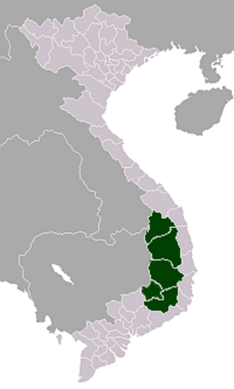 Central Highlands, Vietnam - Location in Vietnam