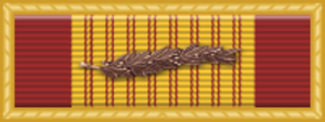 173rd Support Battalion (United States) - Image: Vietnam Gallantry Cross Unit Citation with Palm