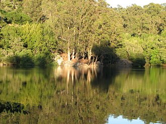 Lake Anza - Image: View across Lake Anza, Tilden Park, Berkeley, California 4