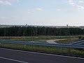 View from Pétfürdő-Várpalota Bridge toward Pétfürdő east, 2017 Várpalota.jpg