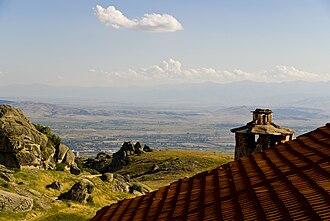 Treskavec Monastery - Image: View from the top treskavec