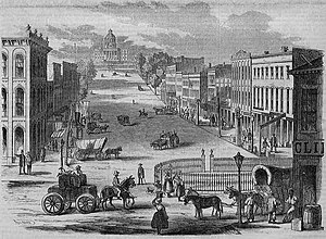 Montgomery, Alabama - View of the Capitol, an engraving published in 1857