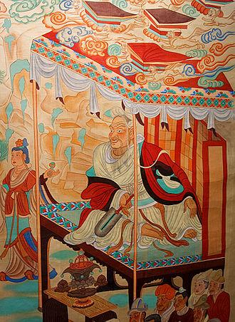 Nondualism - The layman Vimalakīrti Debates Manjusri, Dunhuang Mogao Caves