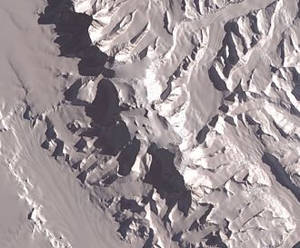Vinson Massif - NASA image of Vinson Massif from space