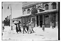 Visit of Prince William of Sweden? to the Dome of the Rock, Jerusalem LOC matpc.10406.jpg