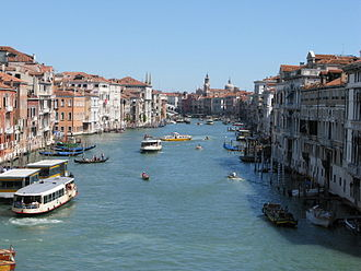 Ca' Foscari - View on the Grand Canal from the second floor of Ca' Foscari