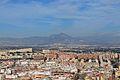 Vista cap al Cabeçó d'Or des del castell de santa Bàrbara, Alacant.JPG
