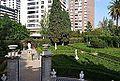 Vista del jardí de Montfort des del palauet.JPG