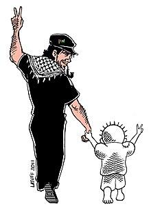 Rappresentazione artistica di Vittorio Arrigoni con Handala 4becc009e2f3