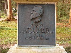 Georg von Vollmar - Detail of the grave of Georg von Vollmar in the Waldfriedhof in Munich.