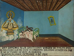 Votive offering dedicated to the Virgin of Talpa