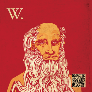 A graphic personification of Wisdom QR-Code co...