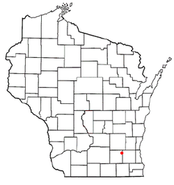 Location of Lake Lac La Belle, Wisconsin