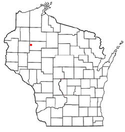 Location of Wilkinson, Wisconsin