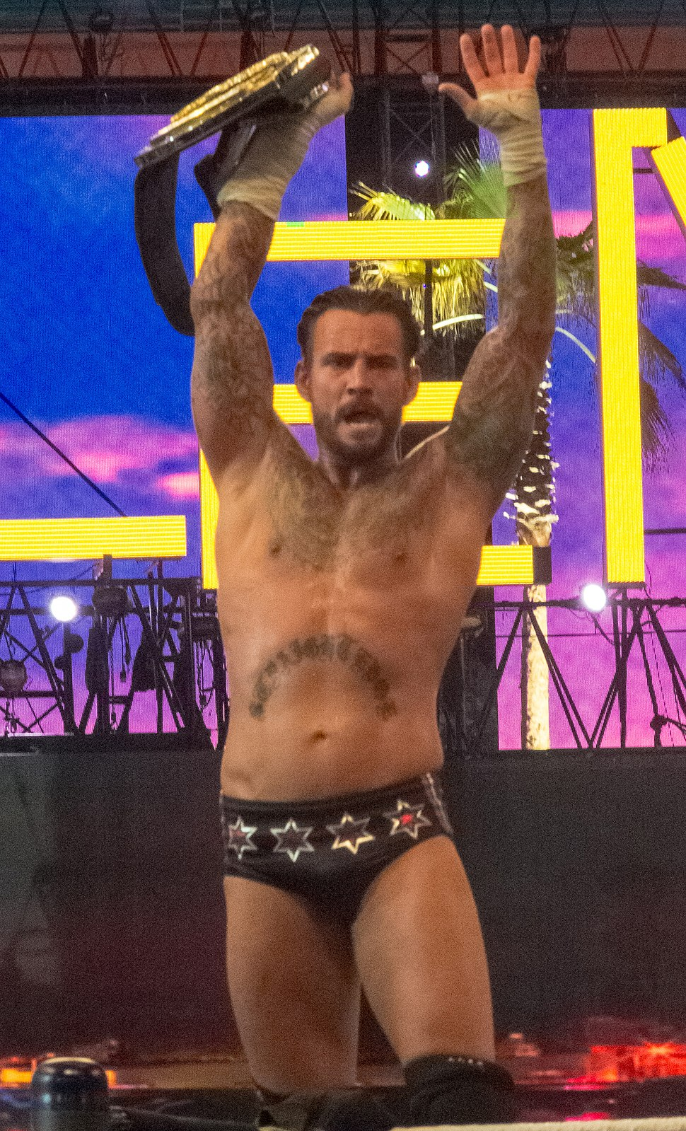 WWE Champion CM Punk retains Wrestlemania 28