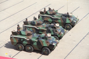Ghana Army - Ghanaian WZ523 armoured personnel carriers on parade.