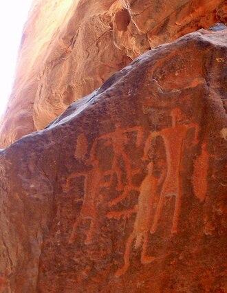 Wadi Rum - Petroglyphs at Wadi Rum