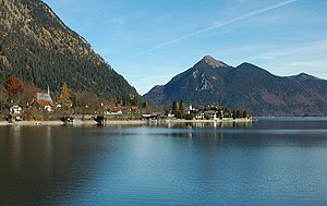 Walchensee - The settlement Walchensee