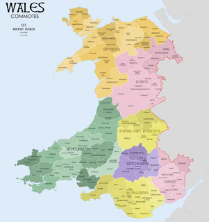 Commote a secular division of land in Medieval Wales