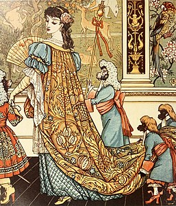 Walter Crane, illustration from Beauty and the Beast, 1875.jpg