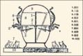 Wang Zhenduo's reprodution of Heng's seismoscope.png