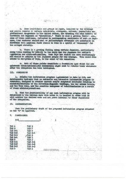 War Guilt Information Program - 3 March 1948
