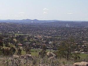 Waramanga, Australian Capital Territory - Waramanga, looking northeast from Mount Arawang