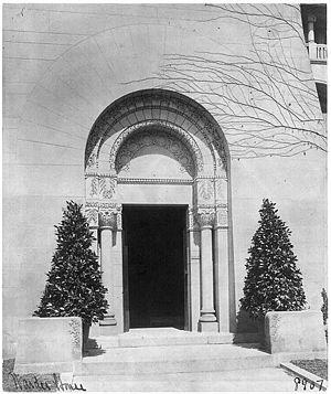 Warder Mansion - Front doorway, circa-1900.