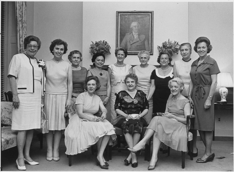 File:Washington, D.C. Women members of United States Congress, Seated, Senator Maurine Newberger, Oregon, Representative... - NARA - 541939.tif