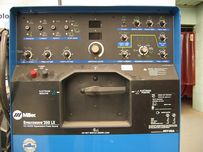 File:Welding power supply-Miller-Syncrowave350LX-front-triddle.jpg