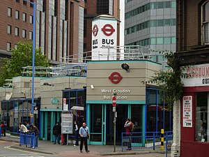 West Croydon station - West Croydon Bus Station (this building has since been demolished)