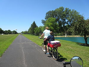 Wabash Cannonball Trail - Image: Westbound Wabash Cannonball Trail, Rotary Park, Wauseon, Ohio