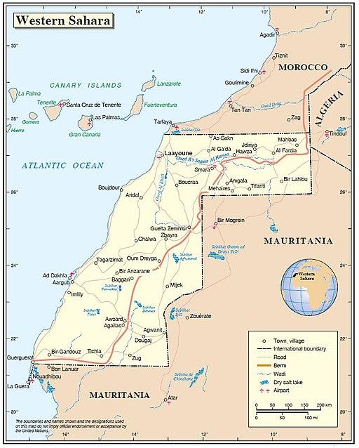 Western Sahara map 2012